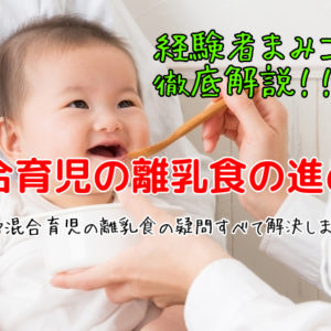 混合育児の離乳食の進め方を経験者が徹底解説します!【混合育児の進め方】