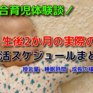 【混合育児体験談】生後2ヶ月の生活スケジュールと授乳量・睡眠時間・体重増加の記録
